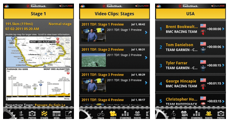 Tour de France 2011 Android App