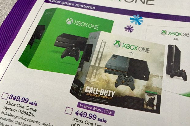 Wait a few days and save $50 on the Xbox One.