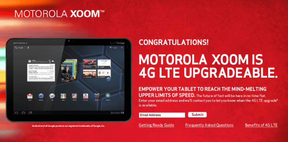 Xoom 4G LTE upgrade now happening