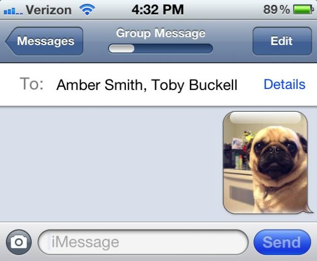 Group iMessage with Picture on iOS 5