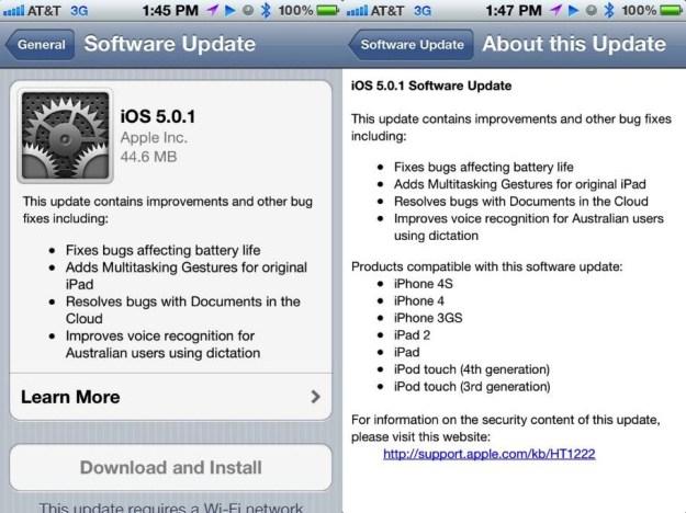 iOS 5.0.1 Update OTA
