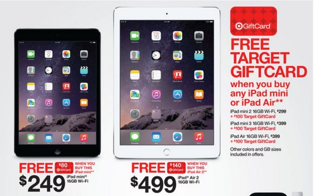 Save big with IPad Air 2 Black Friday deals and$75 to $100 off the iPad mini 3.