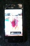 iPhone 4 broken screen on