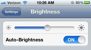 iPhone 4S Better Battery Life - Brightness
