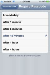 iPhone 4S Settings - Passcode Lockout