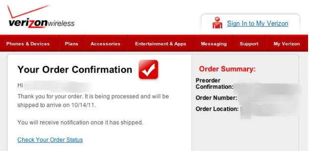iPhone 4s preorder screw up Verizon