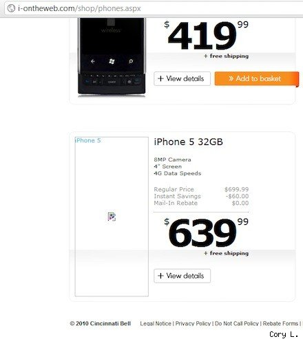 iPhone 5 Specs leak