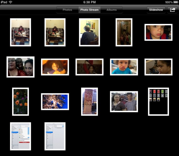 Photo Stream Album on the iPad