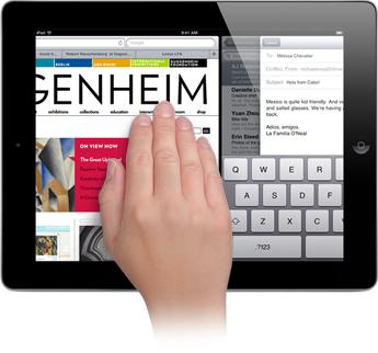 ipad iOS 5 mulittouch gestures