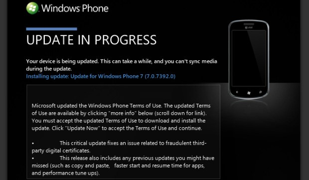 Windows Phone Mango Update