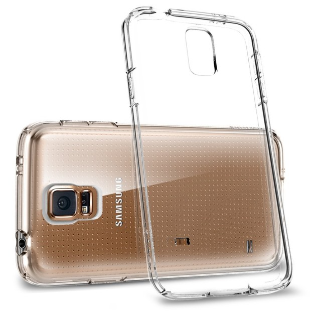 A slim and clear Galaxy S5 case.