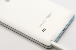 The Galaxy Note 4's back cover and pen garage
