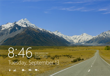 Windos 8 Lock Screen