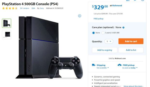 ps4 wal-mart deal