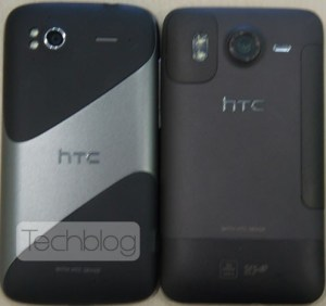 HTC Pyramid next to HTC Desire HD