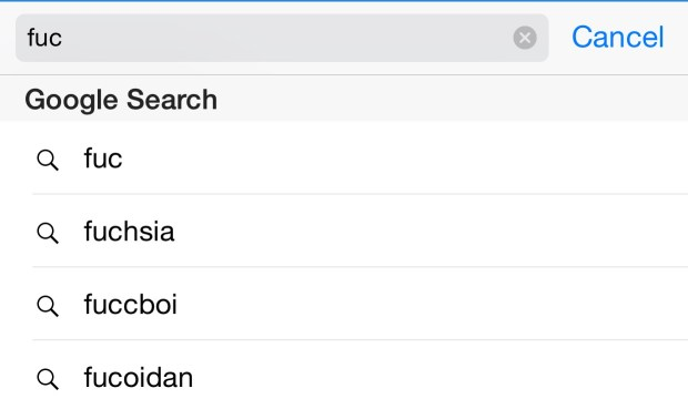 Search to train the iPhone to curse and swear in iOS 8.