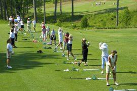 Image of women at golf school