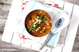Auberginen-Erdnuss-Suppe #rezept #gourmetguerilla