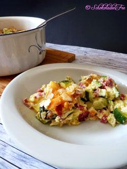 Zucchini-Auflauf mit Kartoffeln  #gourmetguerilla #hippeknollen #reweregional
