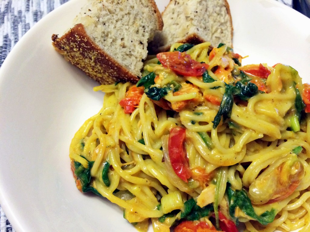 Pasta with Smoked Salmon in a Creamy Curry Sauce - The Gourmet ...