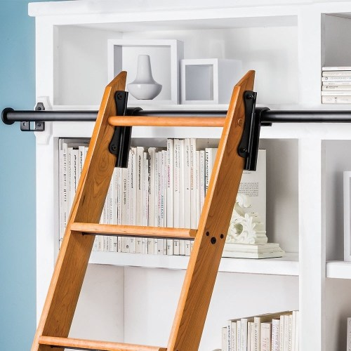 Congenial Sale Library Ladder Kit Ireland Pertaining To Latest Sliding Library Ladder Library Ladder Kits Amazon Rockler Classic Rolling Library Ladder Kit 8h