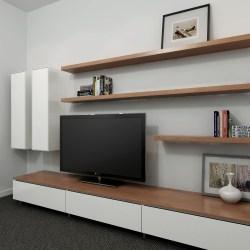 Small Crop Of Wall Long Shelves