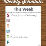 Weekly Schedule Free Printable