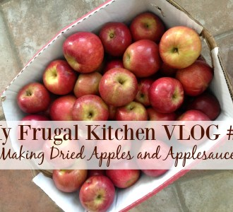 My Frugal Kitchen VLOG #2 – Making Dried Apples and Applesauce