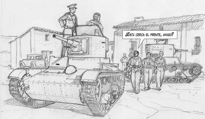 Erroll Flynn en la guerra Civil Española. Cómic ARDE CUBA