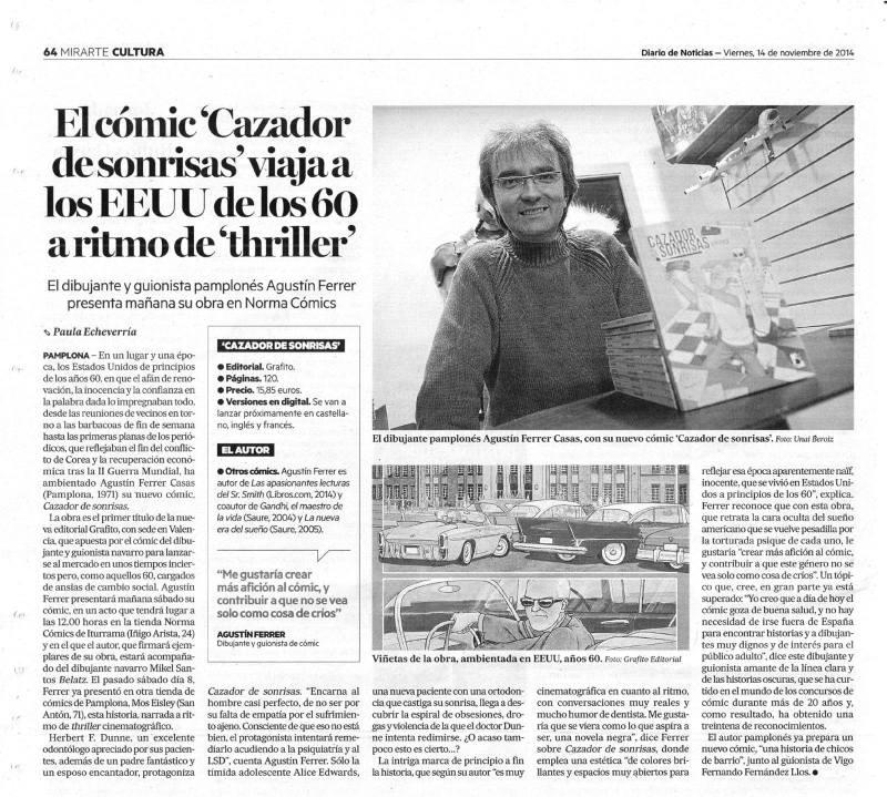 Cazador de Sonrisas en Diario de Navarra