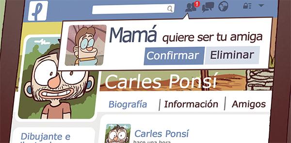 Socorro mi madre tiene facebook comic