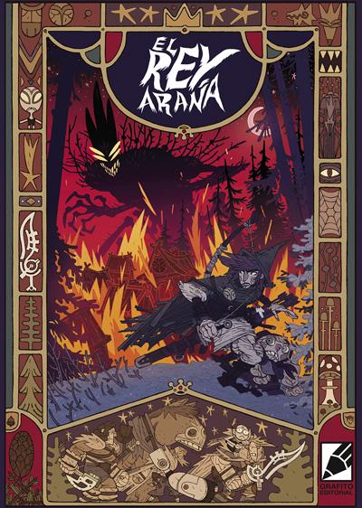 portada de EL REY ARAÑA, cómic de Josh Vann y Simone D'Armini