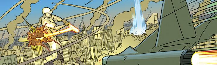D'Israeli, Matt Brooker es el dibujante del cómic Ordinary publicado por Grafito Editorial, un comic de superhéroes y superpoderes