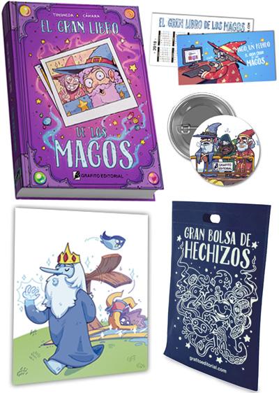pack que se regala con el gran libro de los magos