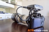 Sony A7R with Metabones EF Adapter and Canon 70-200mm L IS with Sennheiser Mic
