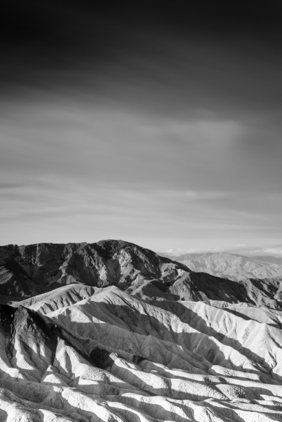 Sony A7R with Canon 50mm 1.8 FD 1962 Death Valley Black and White