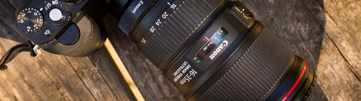 Canon 16-35mm F4 IS Review with Sony A7R top view