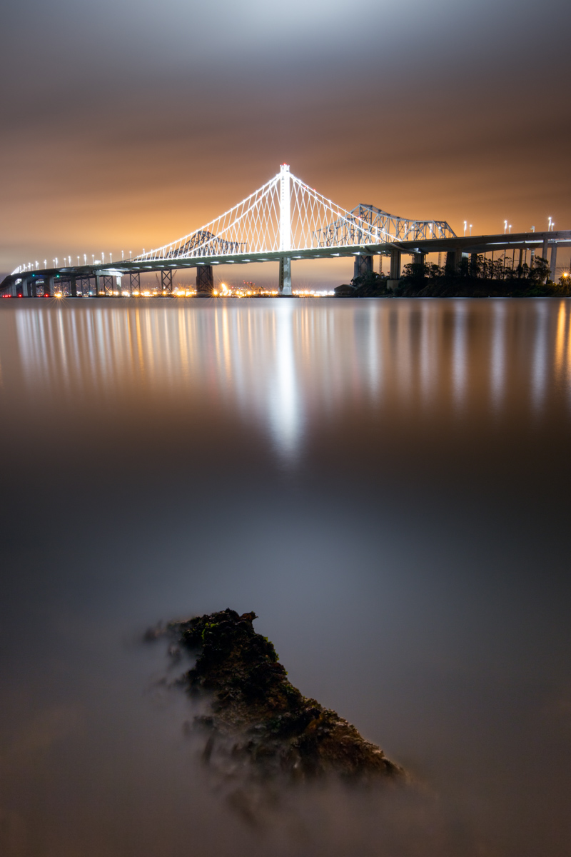 Canon 16-35mm F4 IS on Canon EOS 6D San Francisco Bay Bridge Nightscape Long Exposure