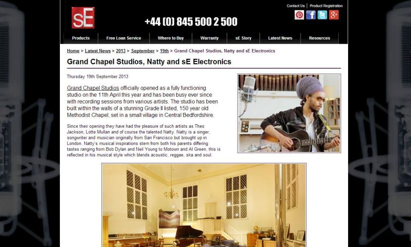 sE Profile Grand Chapel Studios and discuss Natty, Theo Jackson and Lotte Mullan