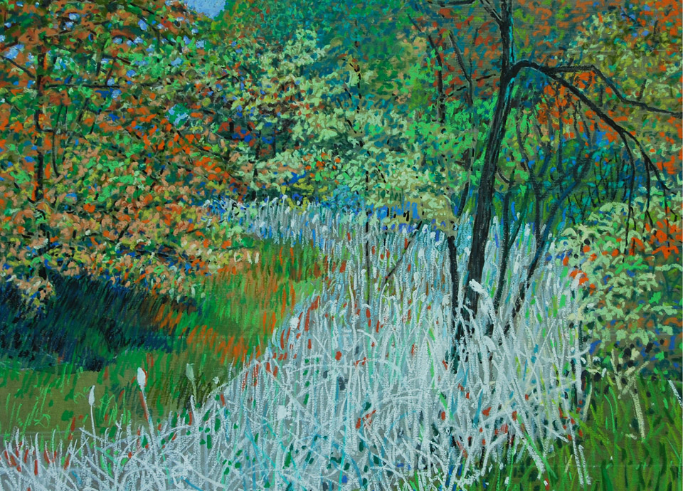 Fred W. Peterson Change of Seasons Oil Pastel 2014