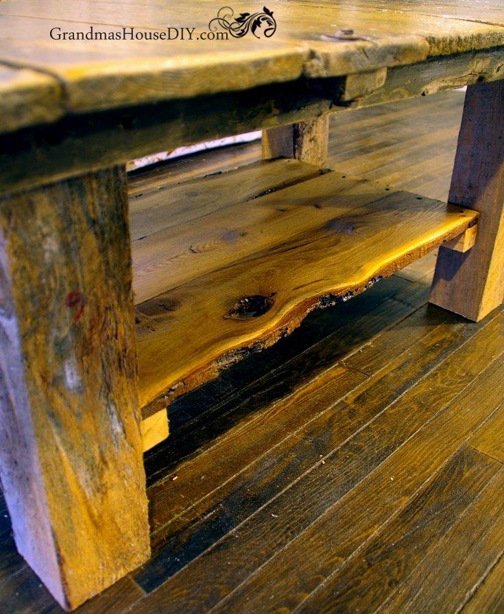 Our Barn Door Coffee Table Finally Gets A Much Needed Shelf Grandmas House Diy