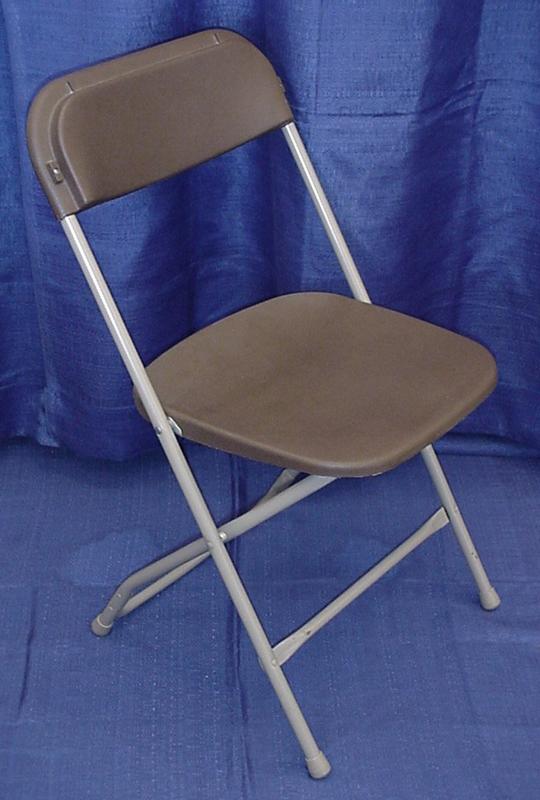 Chair Brown Plastic Folding Grand Rental Station