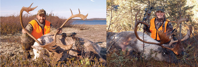 caribou hunting trophy