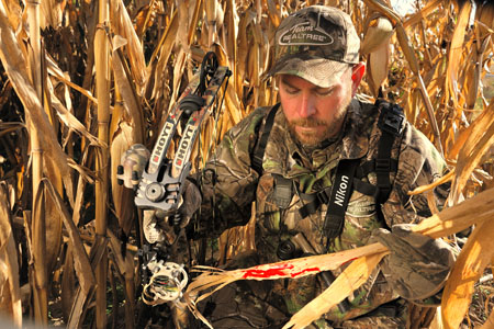 blood trail deer hunt