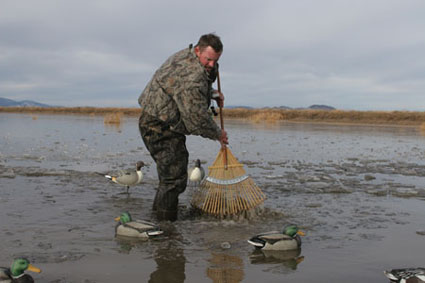 frozen water duck hunting