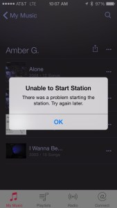 Unable to Start Station - There was a problem starting the station. Try again later.