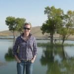 Carter takes a break in Xinjiang.