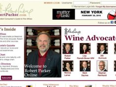 robert parker wine advocate screen capture for china website story on grape wall