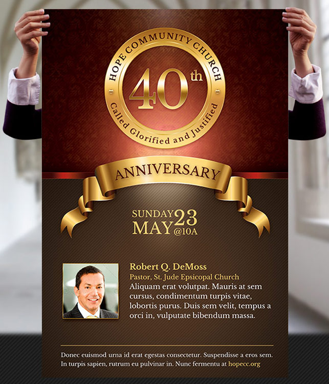 Church Anniversary Flyer and Poster Template HaZQSzT8