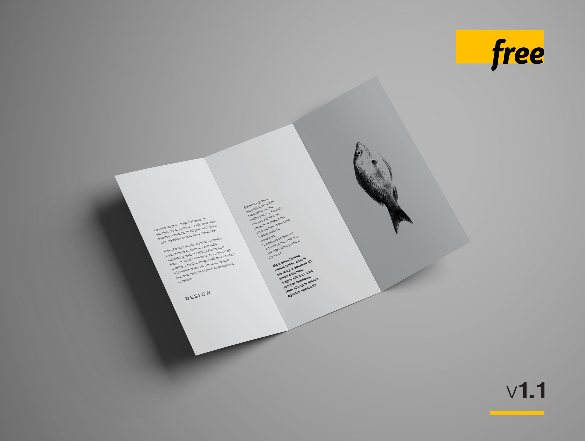 Free Advanced Trifold Brochure Mockup   7 Angles TriFold Brochure Mockup